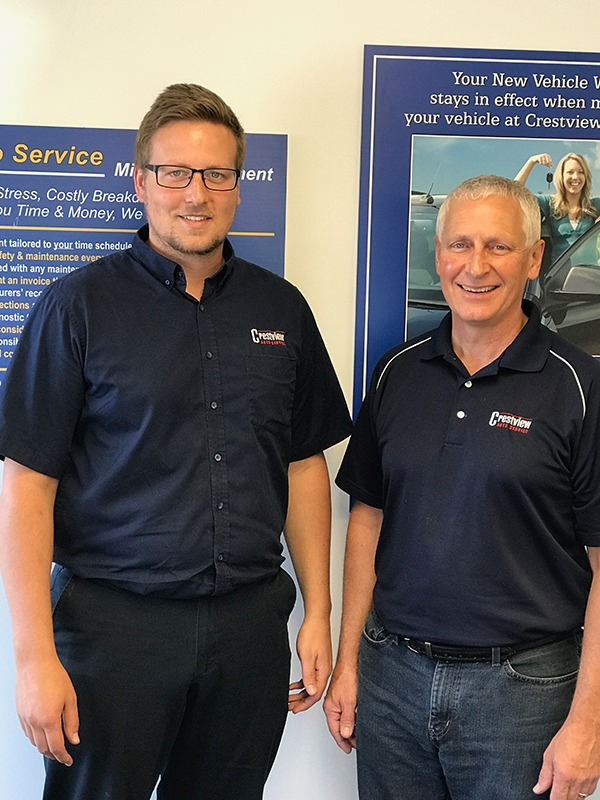 two owners of crestview autoservice saskatoon brandon and don
